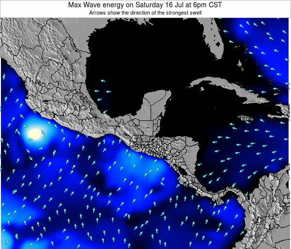 El Salvador Max Wave energy on Monday 23 Jan at 12am CST