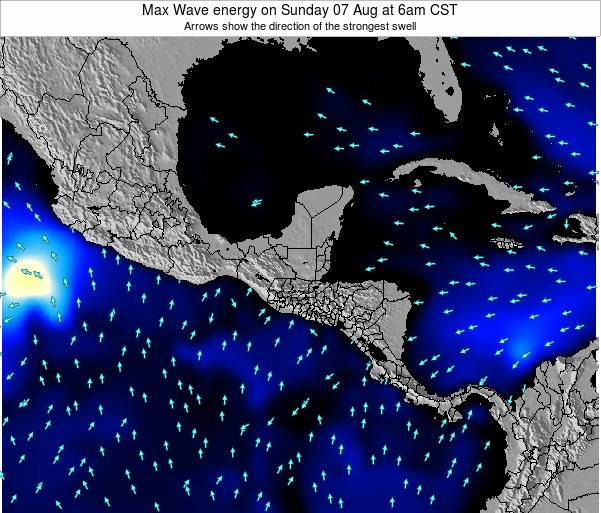 El Salvador Max Wave energy on Wednesday 22 May at 6am CST