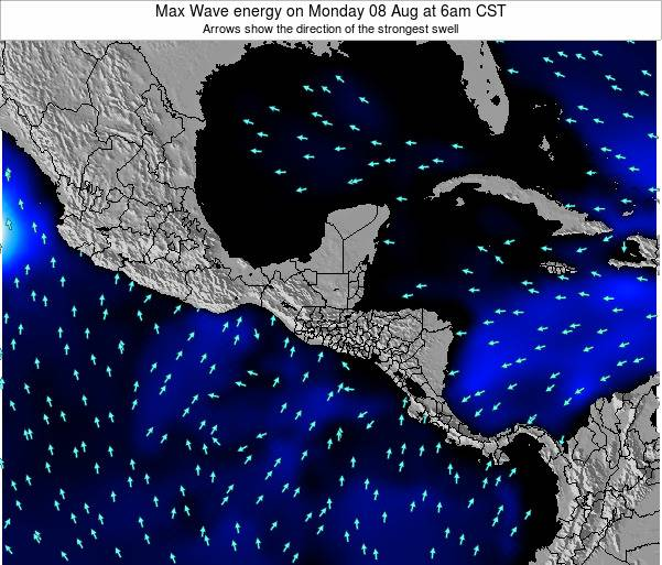 El Salvador Max Wave energy on Friday 25 Apr at 12pm CST