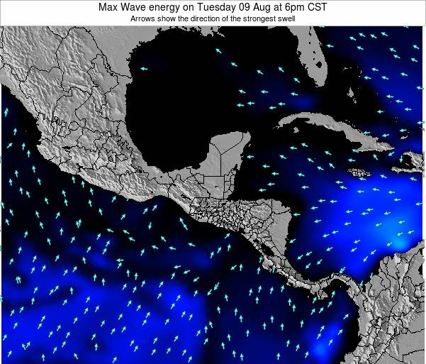 Honduras Max Wave energy on Monday 04 Aug at 6am CST