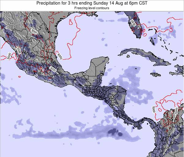 Honduras Precipitation for 3 hrs ending Wednesday 29 May at 6pm CST