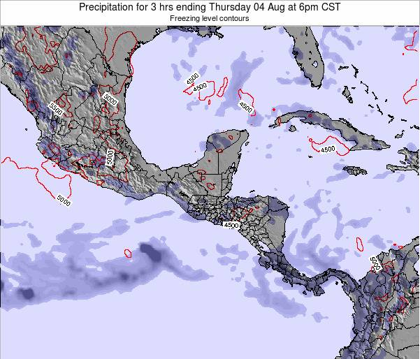Honduras Precipitation for 3 hrs ending Tuesday 18 Jun at 6pm CST