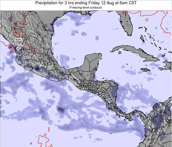 Honduras Precipitation for 3 hrs ending Monday 24 Jun at 6pm CST