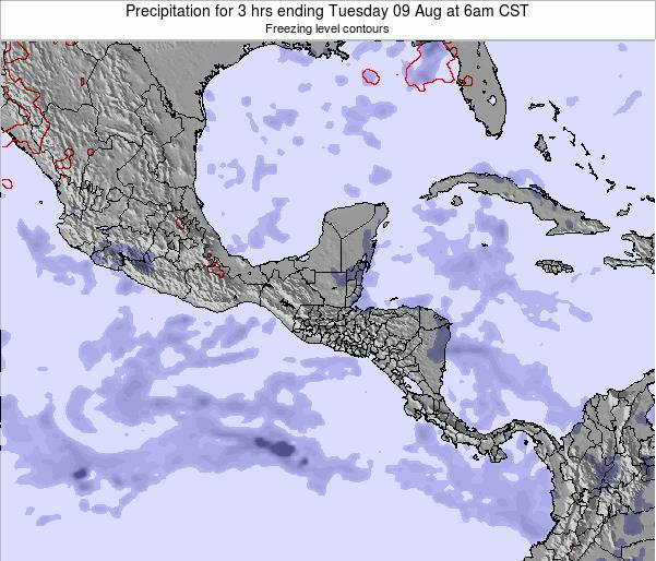 Honduras Precipitation for 3 hrs ending Tuesday 21 May at 6pm CST