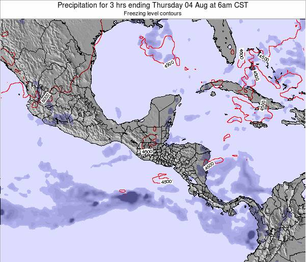 Guatemala Precipitation for 3 hrs ending Monday 21 May at 6pm CST map