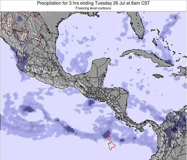 Honduras Precipitation for 3 hrs ending Thursday 23 May at 12am CST