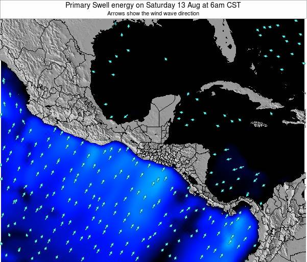Honduras Primary Swell energy on Monday 28 Apr at 12pm CST