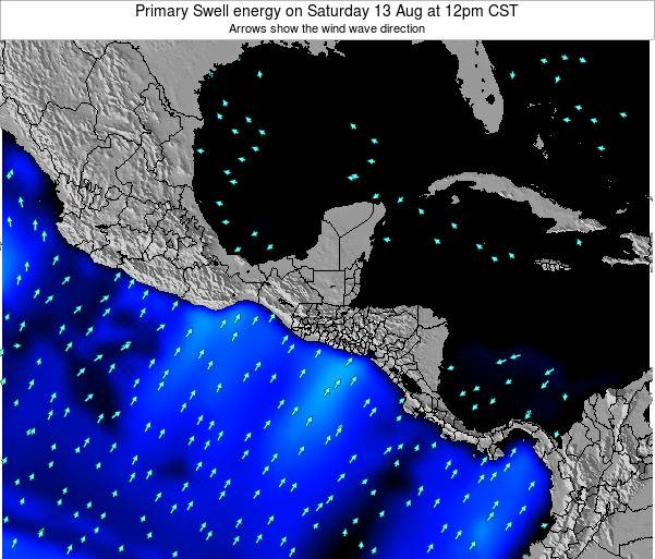 Honduras Primary Swell energy on Thursday 30 May at 6am CST