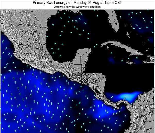 Honduras Primary Swell energy on Friday 13 Dec at 12pm CST