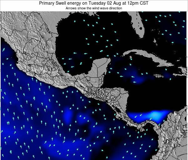 Honduras Primary Swell energy on Friday 24 Oct at 12pm CST