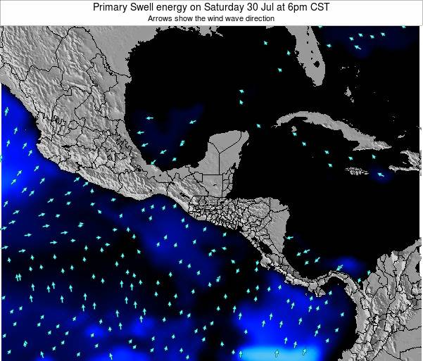 Honduras Primary Swell energy on Friday 14 Mar at 6am CST