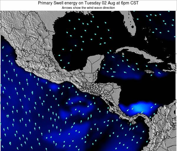 Honduras Primary Swell energy on Wednesday 24 Dec at 12pm CST