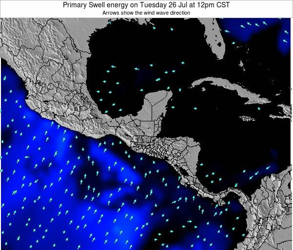 Honduras Primary Swell energy on Friday 25 Jul at 12am CST