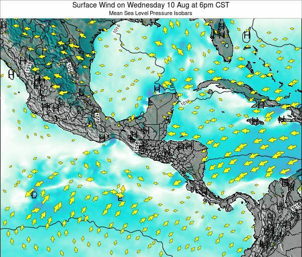 Panama Surface Wind on Sunday 27 Jul at 6am CST