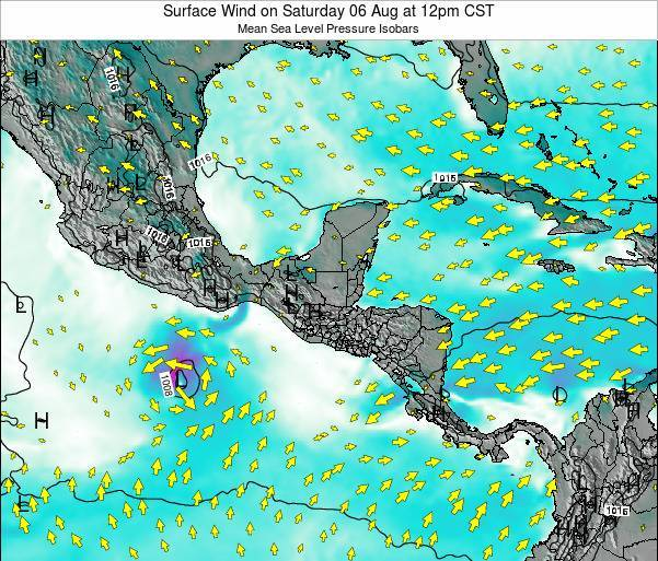 Panama Surface Wind on Wednesday 29 May at 6pm CST