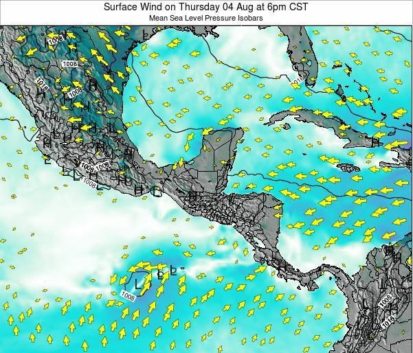 Panama Surface Wind on Saturday 03 Sep at 6am CST