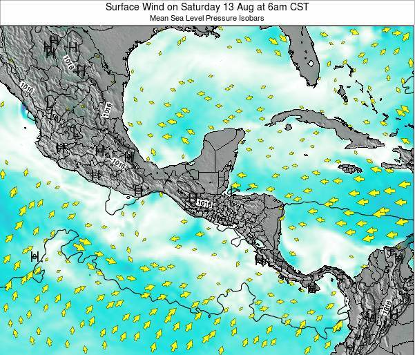 Panama Surface Wind on Friday 24 May at 6am CST