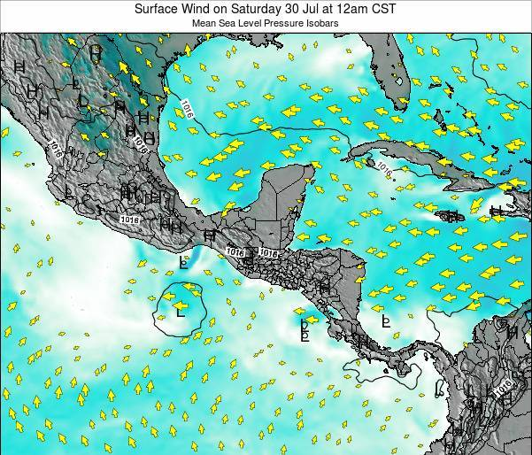 Panama Surface Wind on Thursday 23 May at 6pm CST