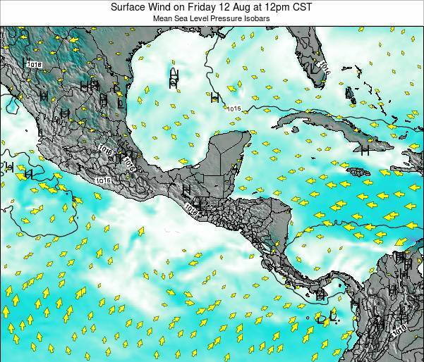 Panama Surface Wind on Saturday 01 Oct at 6am CST