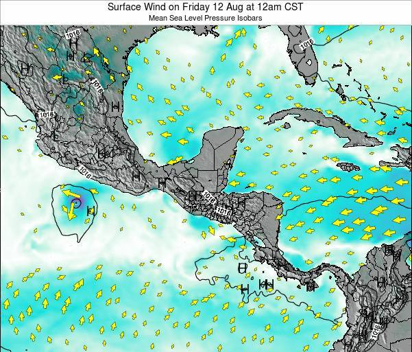 Costa Rica Surface Wind on Tuesday 28 May at 6am CST
