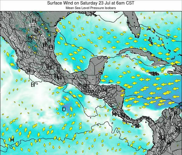 Panama Surface Wind on Saturday 04 Jun at 6pm CST
