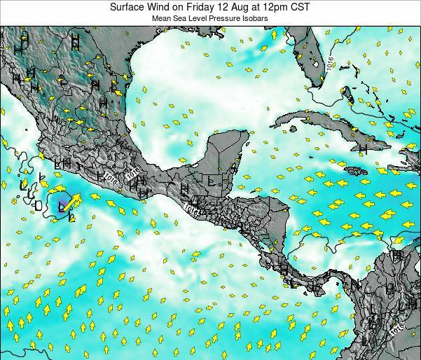 Panama Surface Wind on Saturday 25 Apr at 12am CST