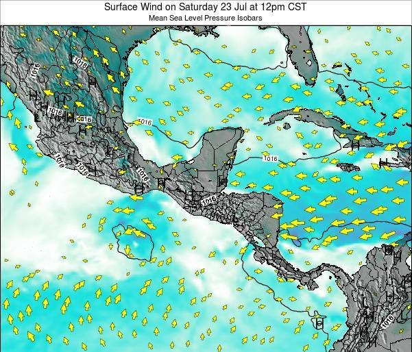 Panama Surface Wind on Monday 08 Sep at 6am CST