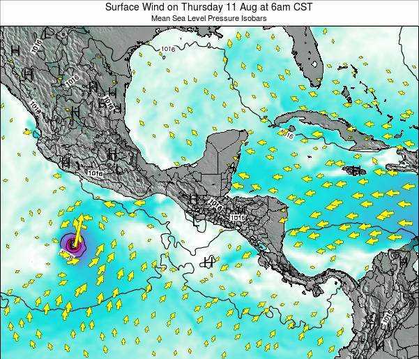 Panama Surface Wind on Wednesday 05 Nov at 6pm CST