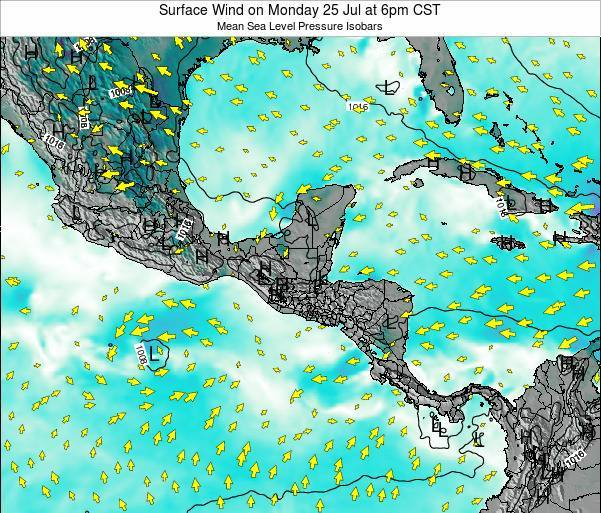 Panama Surface Wind on Monday 04 Aug at 12am CST
