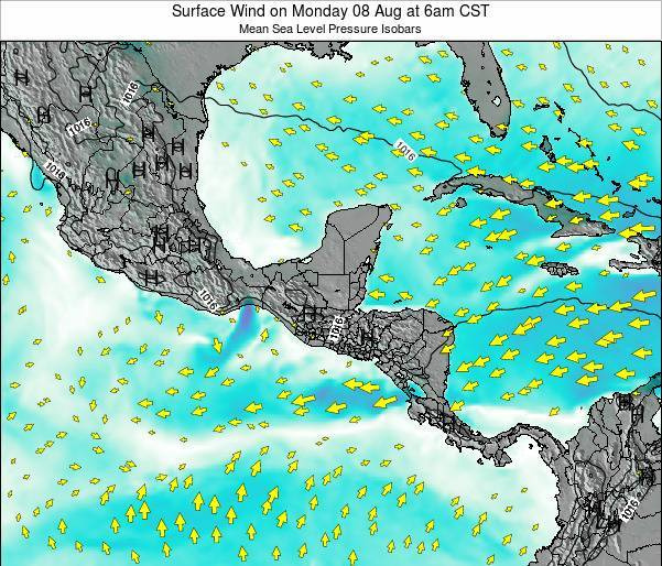 Costa Rica Surface Wind on Sunday 26 May at 12am CST