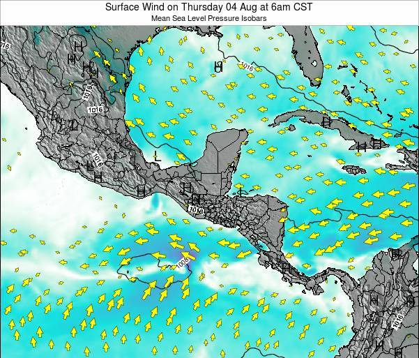 Panama Surface Wind on Saturday 18 May at 6pm CST