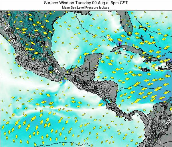 Panama Surface Wind on Sunday 26 May at 12pm CST