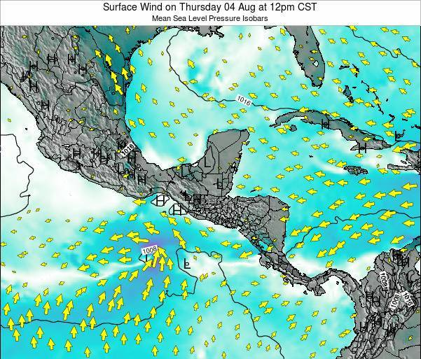Panama Surface Wind on Thursday 26 May at 6pm CST
