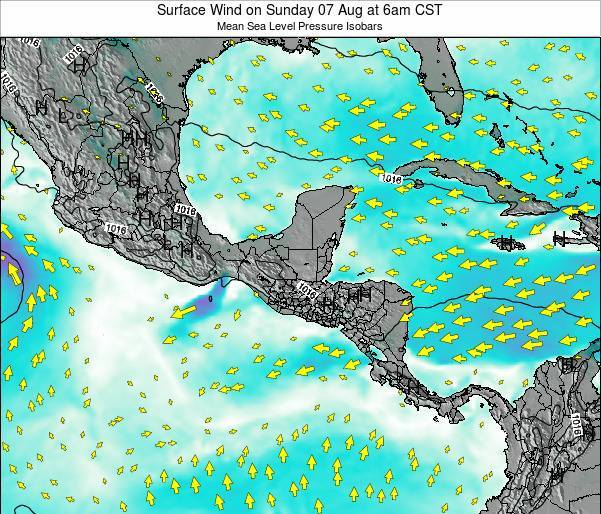 Panama Surface Wind on Saturday 19 Apr at 12pm CST