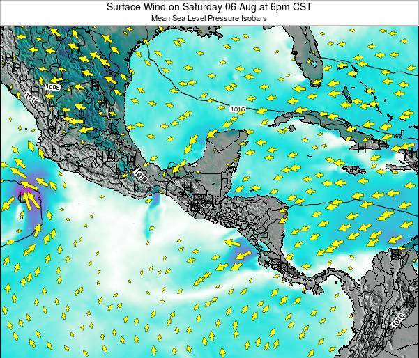 Panama Surface Wind on Friday 30 Jan at 6am CST