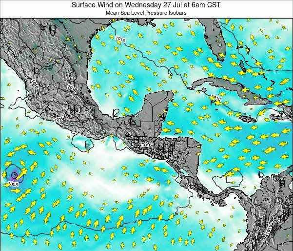 Panama Surface Wind on Tuesday 02 May at 12am CST