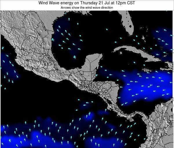 Costa Rica Wind Wave energy on Friday 13 Dec at 12am CST