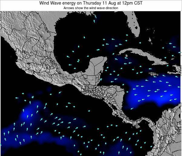 Costa Rica Wind Wave energy on Friday 01 Aug at 6pm CST