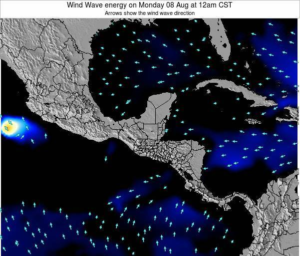 Costa Rica Wind Wave energy on Wednesday 12 Mar at 6pm CST