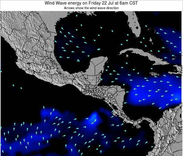 Costa Rica Wind Wave energy on Sunday 27 Jul at 6am CST