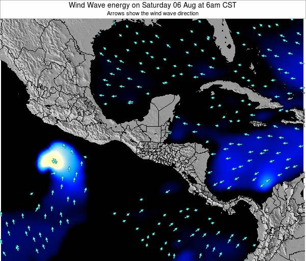 Costa Rica Wind Wave energy on Wednesday 22 May at 6pm CST