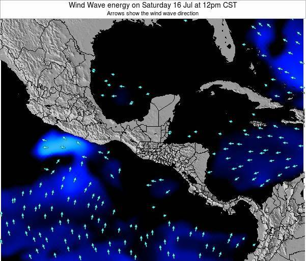 Costa Rica Wind Wave energy on Friday 05 Sep at 12am CST