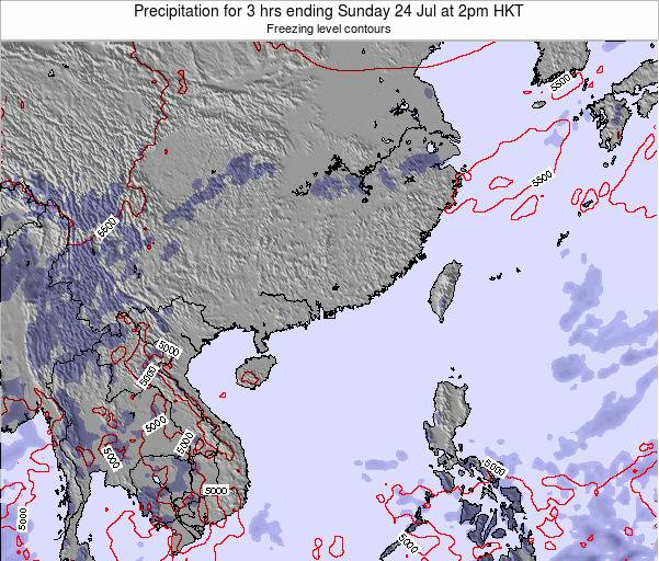 Macau Precipitation for 3 hrs ending Monday 20 May at 2pm HKT map