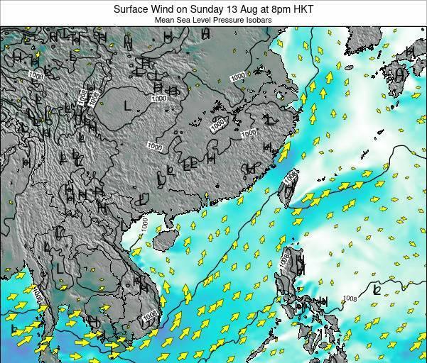 Hong Kong Weather Map.Hongkong Surface Wind On Friday 16 Nov At 2pm Hkt