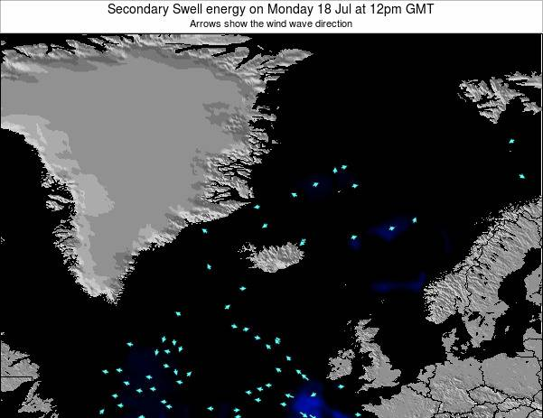 Iceland Secondary Swell energy on Friday 30 Jun at 6pm GMT