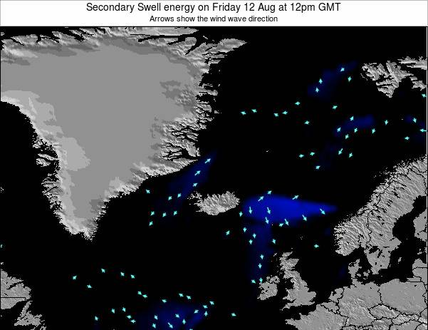 Iceland Secondary Swell energy on Saturday 14 Dec at 12am GMT