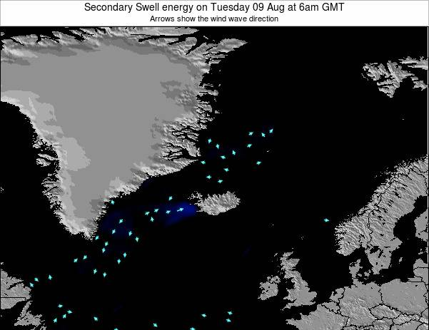 Iceland Secondary Swell energy on Sunday 01 Feb at 12pm GMT