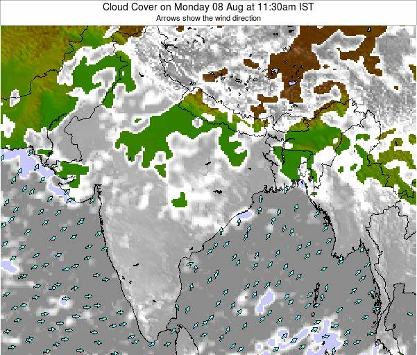Bangladesh Cloud Cover on Wednesday 23 May at 5:30am IST map