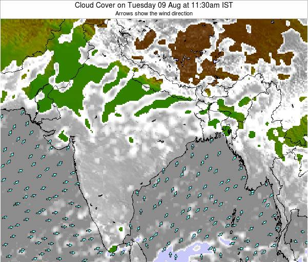 Bangladesh Cloud Cover on Tuesday 21 May at 11:30am IST