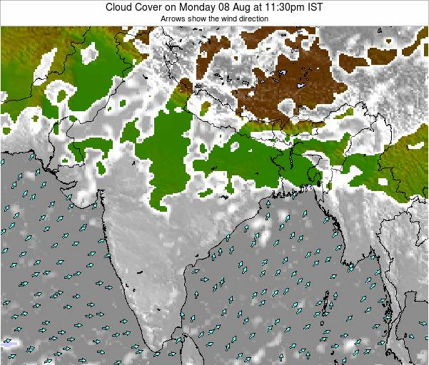 Bangladesh Cloud Cover on Thursday 17 Apr at 11:30am IST